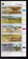 RSA, 1995, MNH Stamps In Control Blocks, MI 962-966, Tourism Various Destinations, X713 - South Africa (1961-...)