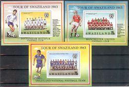 SWAZILAND Sport(soccer) Set 3 S/Sheets  MNH - Stamps