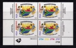 RSA, 1995, MNH Stamps In Control Blocks, MI 969, Masakhane (big), X730 - South Africa (1961-...)