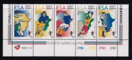 RSA, 1996, MNH Stamps In Control Blocks, MI 985-989, Soccer, X715 - South Africa (1961-...)