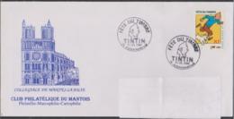 Env. 1er Jour - Année 2000 - N° 3303 - Fête Du Timbre : Tintin Et Milou - Obl. Aubergenville 11 Mars 2000 - FDC