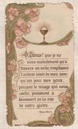 7AJ299 IMAGE PIEUSE RELIGIEUSE COMMUNION  HENRIETTE DANET ST BRIEUC  1912  2 SCANS - Devotieprenten