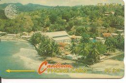 CARTE-MAGNETIQUE-St LUCIA-EC10$-BE-RARE - Sainte Lucie