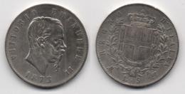 + ITALIE +  5 LIRES 1873 + - 1861-1946 : Royaume