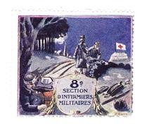 Vignette Militaire Delandre - 8ème Section D'infirmiers Militaires - Erinofilia