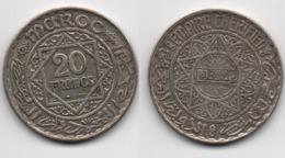 + MAROC   +  20 FRANCS 1352 + - Maroc