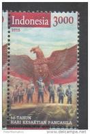 INDONESIA, 2015, MNH, SACRED PANCASILA DAY, EAGLES, MILITARY OFFCICES,1v - History