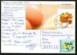 Austria Pc Postcrossing 2014, Stamps Food, Flora - 2011-... Briefe U. Dokumente