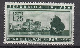 Italia - 1952 - Fiera Del Levante ** - 1946-.. République