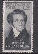 Italia - 1952 - Vincenzo Bellini ** - 1946-.. République