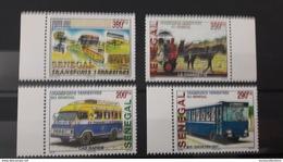 SENEGAL 2002 WITH MARGIN TRANSPORT TERRESTRE CHARRETTE CAR BUS DILIGENCE CHEVAL HORSE MOTO - RARE-  MNH - Senegal (1960-...)