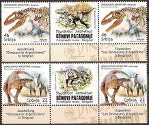 Serbia 2009 Museum Exhibits - Dinosaurs, Stamp-vignette-stamp, MNH (**) Michel 328-329 - Serbia