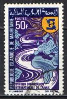 MAURITANIA - 1969 - 50° ANNIVERSARIO DELL'ILO - USATO - Mauritania (1960-...)