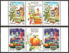 Serbia 2010 EUROPA - Children's Books, Stamp-vignette-stamp, MNH (**) Michel 352-353 - Serbia
