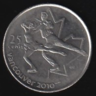 CANADA - 2008 Circulating 25¢ Coin 'Figure Skating' Vancouvert Olympic - Canada