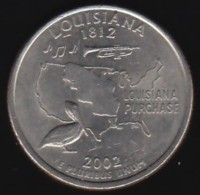 USA -  2002 Circulating 25¢ Coin, Louisiana - Federal Issues
