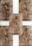 Pin-up, Femme Seins Nue - 19 Effeuillage Actrice X 5 (AN 536) - Pin-Ups
