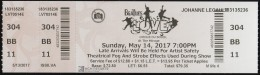 The Beatles Love, Cirque Du Soleil At The Mirage Ticket #: 483253837742 (MS105) - Concert Tickets