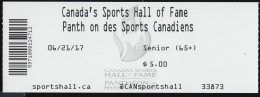 Canada's Sports Hall Of Fame, Ticket #: 5971000124712 (MS114) - Sports