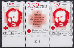 Serbia 2013 International Committee Of The Red Cross, Stamp-vignette-stamp, MNH (**) Michel 500 - Serbia