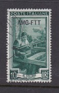 Trieste Allied Military Government S 94  1950 Provincial Occupations 10 Lira Green Used - 7. Trieste