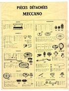 MECCANO Nomenclature Piéces Détachées - Meccano