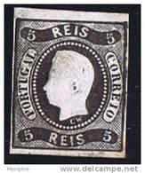 Luiz I  Non Dentelé 5 Reis Afinsa 19  * MH - 1862-1884 : D.Luiz I
