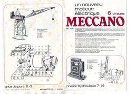 CATALOGUE MECCANO Un Nouveau Moteur Electrique 6 VITESSES - Meccano