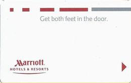 Marriott Hotel Room Key Card - Ilco & Saflok Logos On Reverse - Hotel Keycards