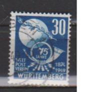 ALLEMAGNE OCCUPATION FRANCAISE  WURTEMBERG       N°  52    OBLITERE  ( O 551 ) - Zone Française