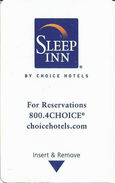 Sleep Inn Hotel Room Key Card - Hotel Keycards