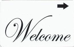 Generic Welcome Hotel Room Key Card - Hotel Keycards