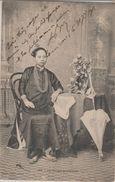 Cochinchine La Congaï Annamite Avec Ombrelle Très Beau Plan 1906 éditeur Planté Saïgon N°129 Dos Scanné - Vietnam