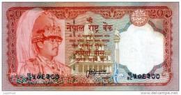 NEPAL TWENTY RUPEES BANKNOTE KING BIRENDRA 2000 PICK-38c Type 2 UNC - Nepal