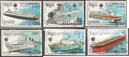 Cambogia 1988 SHIPS 6 Val. Fu - Camboya