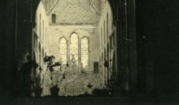 Belgique Tournai Destruction WWII Liberation Eglise Ruines Ancienne Photo Hiver 1945 - Places