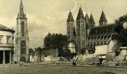 Belgique Tournai Destruction WWII Liberation Cathedrale Beffroi Ancienne Photo Hiver 1945 - Places