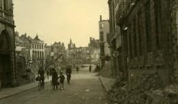 Belgique Tournai Destruction WWII Liberation Rue En Ruines Ancienne Photo Hiver 1945 - Luoghi