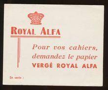 Buvard -  ROYAL ALFA - Papier VERGE ROYAL ALFA - Blotters