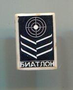 BIATHLON -  Vintage Pin Badge, Abzeichen - Biathlon