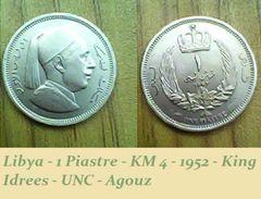 Libya - 1 Piastre - KM 4 - 1952 - King Idrees - UNC - Agouz - Libya