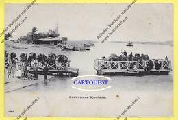 CPA Caravane Kantara BAC PASSAGE Du NIL Animée ( Dos KYPRIADI Frères Fabrique De Cigarettes Port Saïd PRECURSEUR ) - Egypt