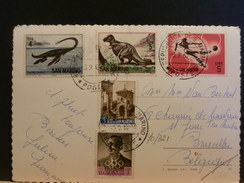 70/321   CP SAN MARIN - Stamps