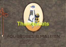 FOURRURES R . MALIEN GRAND CARNET 15 PLANCHES BRUXELLES  FACADE SALON DE VENTE PELLETERIES ATELIERS FABRICATION - Petits Métiers