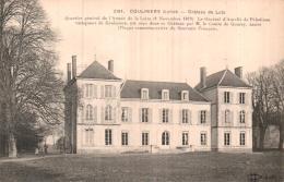 45 COULMIERS CHATEAU DU LUTZ CIRCULEE 1918 - Coulmiers