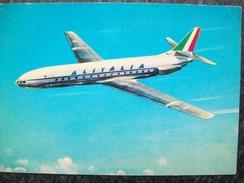 CARTOLINA AEREO CARAVELLE  ALITALIA Company Card - 1946-....: Moderne