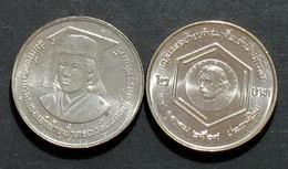Thailand Coin 2 1986 Princess Chulabhorn Medal Research Y191 UNC - Thailand