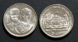Thailand Coin 2 1990 100th Siriraj Medical School Y230 UNC - Tailandia