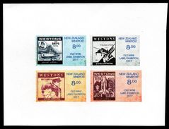 New Zealand Wine Post- Imperf Trial Old Wine Label Exhibition Stamps. - Unclassified