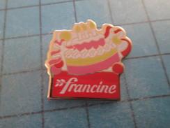Pin713A Pin´s Pins / Beau Et Rare : ALIMENTATION / FARINE FRANCINE GATEAU D'ANNIVERSAIRE BOUGIE - Food
